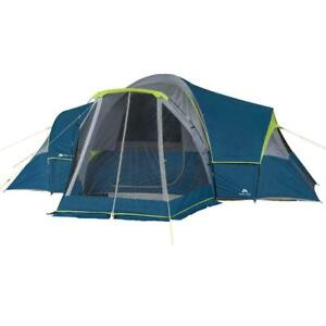 Ozark Trail 10-Person Family Camping Tent with 3 Rooms and Screen Porch
