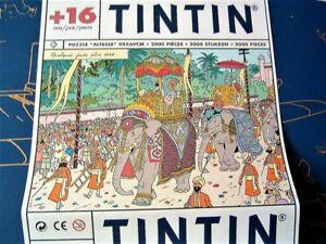 Very rare TINTIN 2000 piece jigsaw 98 x 69cm ELEPHANTS ON PARADE - Not Started
