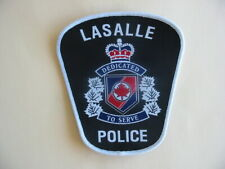 SILK SCREEN PATCH OF THE LASALLE POLICE, ONTARIO, CANADA