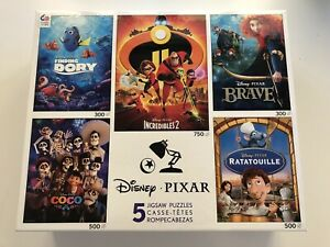 New Disney Pixar 5-in-1 Multipack Puzzles