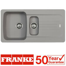 Franke Aveta 1.5 Bowl Stone Grey Tectonite Reversible Kitchen Sink And Waste kit