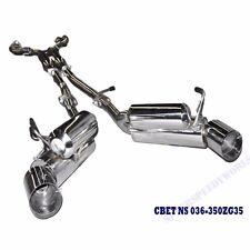Dual Catback Exhaust for 03-09 350Z /03-07 G35 2 Door ONLY 3.5L V6 DOHC VQ35DE