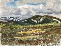 Karl Adser 1912-1995 Bergige weite Landschaft Sommer Norwegen Skandinavien