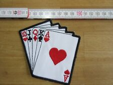 Parche Poker straight flush tarjetas Motociclista Motocicleta Vintage Juego