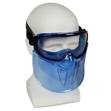 Jackson V90 Safety Goggles w/ Face Shield 18629 Clear Anti Fog Lens Blue