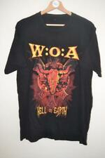 MENS BLACK SCHADEL WEAR W.O.A HELL ON EARTH SHORT SLEEVE T-SHIRT SIZE LARGE MENS