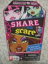 Monster High Share or Scare The Spooky Game of Dares & Secrets 2011 Complete