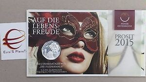 5 euro 2015 Austria Autriche Osterreich pipistrello fledermaus bat chauve-souris