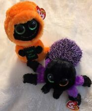 "TY Beanie Boo Ghost SEEKER Is TySilk & Spider CREEPER Lot Of 2 /6""~NEW~Halloween"