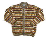 Womens Missoni Sport Vintage Knit Cardigan Wool Alpaca Mohair Multicolor Size XL