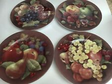 Limoges Fruit Plates Set of 4 Decor 00004000 ative Wall Plates Fruit Decor