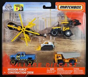 2020 Matchbox Mission Force Construction Crew / New Holland / Chevy / Faun / MIB