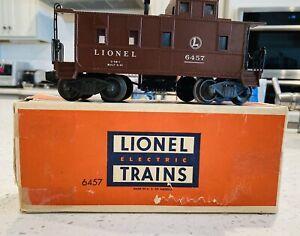lionel 1947 6457 Lighted Caboose W Box