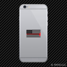 Subdued American Axe Flag Cell Phone Sticker Mobile Firefighter EMT USA US