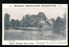 Surrey Education Committee RUNNYMEDE reward card 1905 George Martin PPC