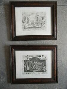William Hogarth The Analysis of Beauty Pair Framed Engravings 1808 Cook