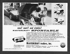 1960 Triumph TR-3 & Mastercraft Sportable Trailer photo vintage promo print ad