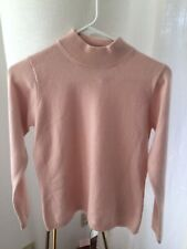 Vintage Queenie 100% Cashmere Sweater Turtleneck Pink Size Medium VGUC