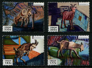HERRICKSTAMP NEW ISSUES CURACAO Sc.# 224-27 Year of the Goat