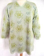 Geblümte Damen-Pullover aus Baumwollmischung