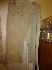 Hillard & Hanson Capri Capris Cropped Pants Tan Size 14P NEW