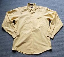 Vintage Gant Oxford Club Yellow Long Sleeve Button Down Shirt SZ 15 1/2 - 34 USA