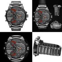 Newest Men's Luxury Watch Stainless Steel Sport Analog Quartz Wristwatches RS