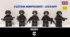 5pc Call of Duty Ghosts Custom Minifigure Set | SWAT | Army + FREE LEGO BRICK UK
