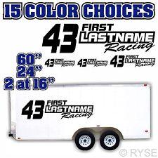 "60"" Custom Name Race Number Trailer Decal Car IMCA Model Modified Sprint Stock"