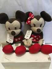 2017 Hallmark Disney Sweetheart Mickey And Minnie Stuffed Animals Set New