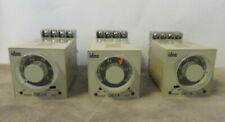 Lot of 3 Ge1A-C Idec Electronic Relay Timers w/ Bases (Used)