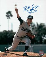 "Bill Singer Signed 8X10 Photo ""No Hitter 7/20/70"" Autograph Dodgers Auto COA"