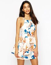 WYLDR Rosewood Summer Dress In Floral Print with Peplum L / UK 14/EU 42/US 10