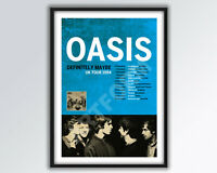 OASIS Definitely Maybe REIMAGINED Tour Poster A3 size.