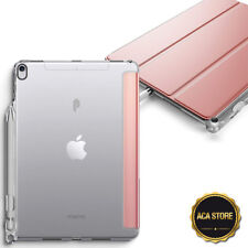 Soft TPU Smart Cover Case For Apple iPad Pro 10.5 Rose Gold