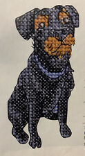 Oop Patterdale Terrier Dog Mini Cross Stitch Pattern