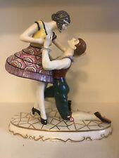 Art Deco Czechoslovakia Porcelian Figurine Of Dancers