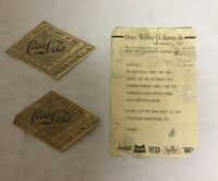 Pair Old Vintage Coke Straight Side Bottle Diamond Shaped Labels With Letter