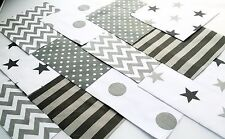 """10 x GREY SILVER Fabric Squares 5"""" inch Polycotton Patchwork Quilting"""