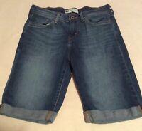 LEVI'S Women's Size 4 Blue Denim Jean Cuffed BERMUDA Shorts