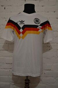 VINATAGE GERMANY RETRO REPLICAS HOME FOOTBALL SHIRT 1988/1990 JERSEY MENS M