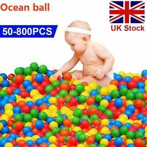 50-800x Soft Plastic Ocean Balls Children Pit Kids Colourful Toys Play Pool Ball