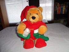 Disney Store Holiday Pooh 10""