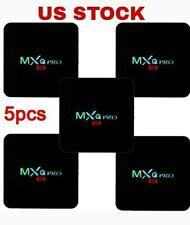 5Pcs MXQ PRO 4K Amlogic S905 Quad Core Android 5.1 Smart TV Box Wifi 1G+8G USA