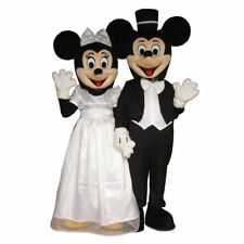 Wedding Mickey Minnie Mouse Couple Adult Mascot Costume Disney Prom Party Event