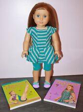 American Girl McKENNA DOLL + 2 Books - Meet GOTY Girl of the Year 2012