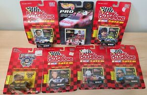 Lot of 7 Vintage NASCAR 1:64 Die Cast Racecar 1997 Racing Champions & Hot Wheels