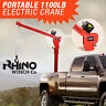 Electric Crane Hoist, 12v Portable Deer Lift, 3000lb Rhino Winch over 1 Ton Lift