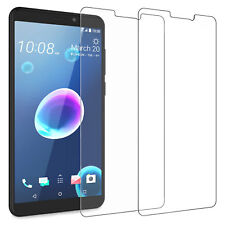 2 Pack, HTC Desire 12 Screen Protectors Best Tempered Glass Thin Protection UK