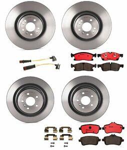 Brembo Front & Rear Full Brake Kit Disc Rotors Ceramic Pads Sensors For MB X166